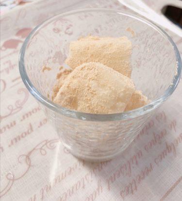 片栗粉で簡単に作れるミルク餅(きな粉)を親子で作ろう♪