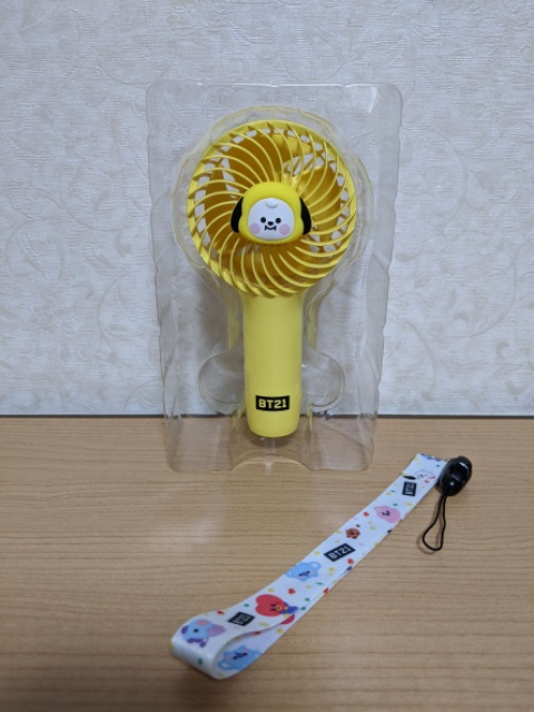 【BT21・LINE FRIENDS 】でベビーミニ携帯扇風機を購入!口コミや感想について